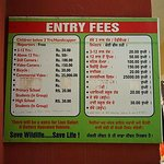 Entry Fees Rs. 20-50 Only (Camera charges extra)