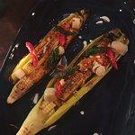 Small Plate: Jagung - wood roast baby corn in husk, leek, chili butter
