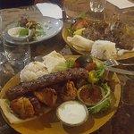 Mixed platter and lamb cutlets both favs