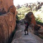 The trail - steep but fun!