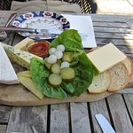 Cheese board for lunch