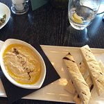 Hummus and bread 3.50 pounds