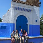 At the entrance of Chefchaouen with Mohammad Amrabat