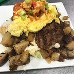 The 'What Brent Had' daily brunch special inspired by Lee's husband, Brent.