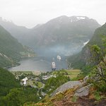 A view of Geiranger from the Western side at the 1/2 way point