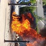Kerosene does the job of burning off the oil!