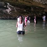 Walking out from Ice cream cave in Panak Island