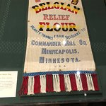 Decorated flour bag for the relief effort during WWI