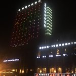 Hotel all lit up