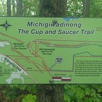 "Cup and Saucer trail - ""you are here"" maps along the way"