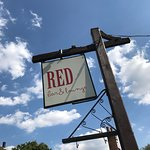 Red Bar & Lounge Sign
