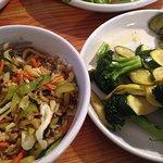 Ginger Hoisin Rice Bowl and sauteed seasonal veggies