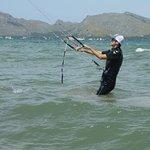 flachwasser kiten stehrevier Mallorca kitesurfing lessons Mallorca in Juli