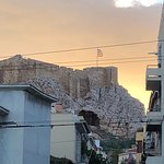View of the Acropolis from the hotel