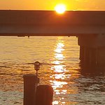 Fabulous sunset over the bridge.