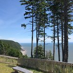 A lookout on the new section of the Fundy Trail Parkway that opened in 2018