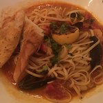CIOPPINO MAXIMO 1/2 lobster tail, shrimp, mussels, calamari, clams, fennel scented stew