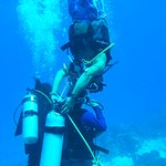 Luis showing Maya how proud he was of her diving :-)