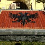 The Mosaic of Albanian Flag, very close to the Bridge