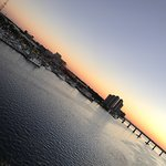 Sunset over the Caloosahatchee from Pinchers.