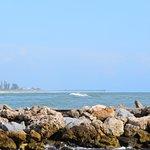 Sharkey's pier in the distance