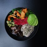 Japanese Soba Noodle Bowl with Salmon