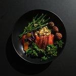 Pastrami Freekeh Bowl with Salmon