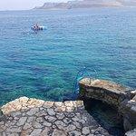 The ocean swimming area