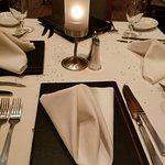 Birthday dinner sparkles on the table!