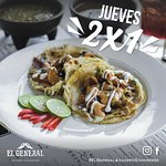 all Thursdays shrimp tacos 2x1 and 5-7 happy hour.
