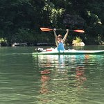 Kayaking the White River with Float Eureka's boat