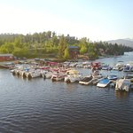 Boat slips at the Marina