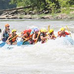 our group going down the river
