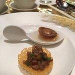 甜椒炒豬肉和鮑魚柚子凍