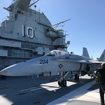 On the deck of the Yorktown