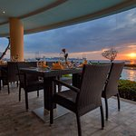 Sunset view and The Bay Restaurant Dusit Thani Pattaya