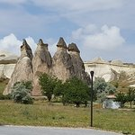 A view of the rock formations from the parking lot