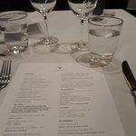 Table and menu
