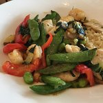 Shrimp and Mahi Bowl with Lemongrass Sauce