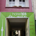 The entrance to hotel 103