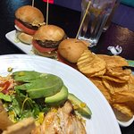 sliders and house made chips