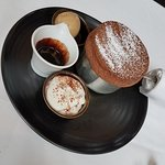 Lunch - chocolate souffle AMAZING!!!!!