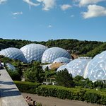 Eden Project panorama from the entrance viewing deck
