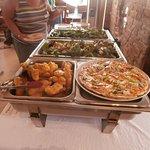 Battered barramundi and crocodile pizza!