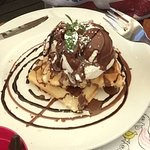 Flake chocolate waffle