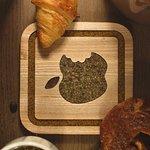 wooden coaster for tea - Apple