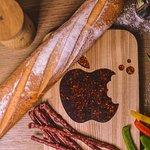 wooden cutting board - Apple