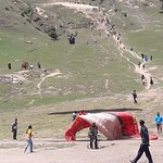 View of the paragliding