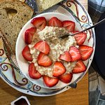 Oatmeal, special request with fresh strawberries