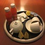 "Room service ""English breakfast tea"""